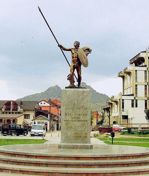 Μπρούτζινο άγαλμα του Μεγάλου Αλεξάνδρου στην πόλη Πριλέπ