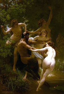 William-Adolphe Bouguereau 1825-1905 - Nymphs and Satyr 1873