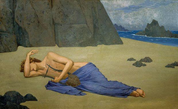 The lamentation of Orpheus - Alexandre Seon