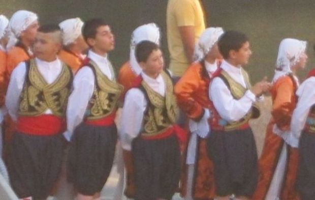 Turkish Cypriot children in traditional clothes