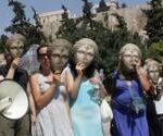 Με μάσκες και πανό υπέρ Γαβρά