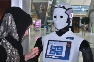 Ρομποτικό προσωπικό σε εκθεσιακό χώρο στο Abu Dhabi