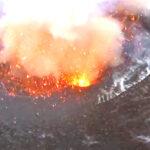 Έκρηξη ηφαιστείου από απόσταση αναπνοής όπως την κατέγραψε τηλεκατευθυνόμενο ελικοπτεράκι (Video)