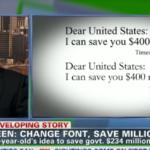 14χρονος προς κυβέρνηση των ΗΠΑ: Εξοικονομήστε εκατομμύρια δολάρια απλά με... αλλαγή γραμματοσειράς!